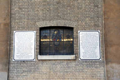 St Marks Church Kennington history wall plaques