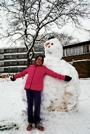 Claylands Green snowman and friend