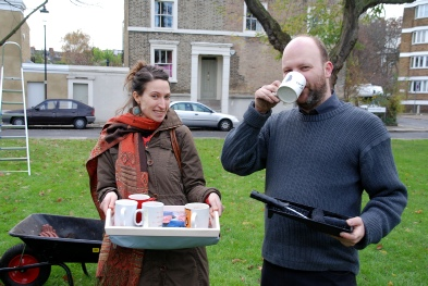Claylands Green Action Day -Tea time